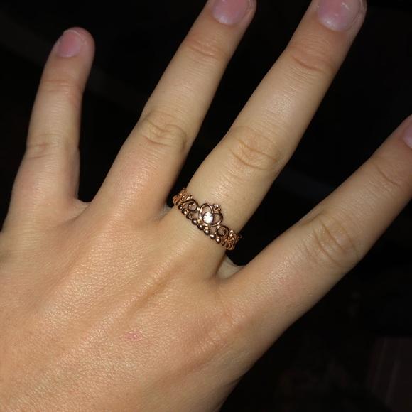 Pandora Jewelry Rose Gold Princess Tiara Ring Poshmark